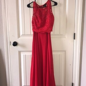 Bright red prom dress. Worn one time.
